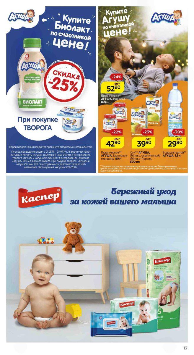 Сезонный каталог магазинов МАГНИТ 01-28.08.2019 стр. - 0013